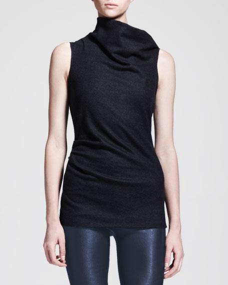 Helmut Lang Sonar Wool Asymmetric-Neck Top