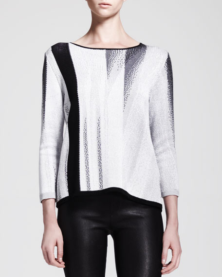 Virga Jacquard Knit Sweater