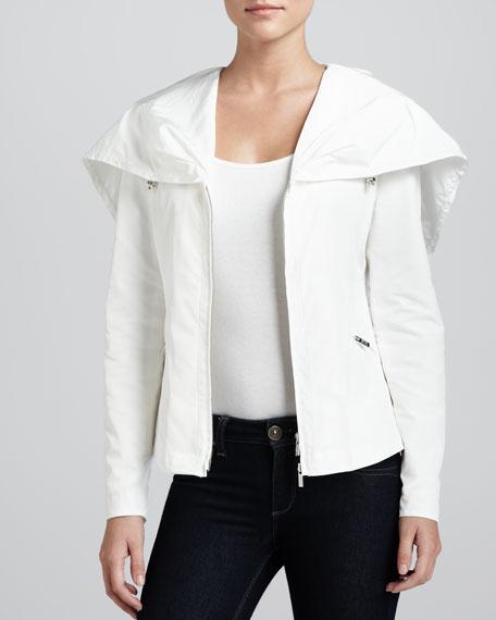 Hooded Zip-Front Winter Jacket