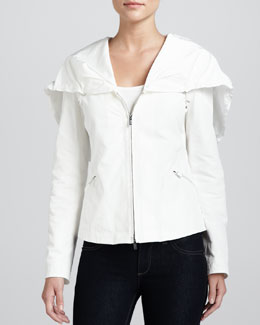 Armani Collezioni Hooded Zip-Front Winter Jacket