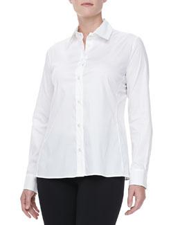 Armani Collezioni Long Sleeve Poplin Shirt, White