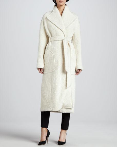 Moyen Long Felt Robe-Style Coat