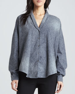 Theyskens' Theory Brana Loose Chambray Top
