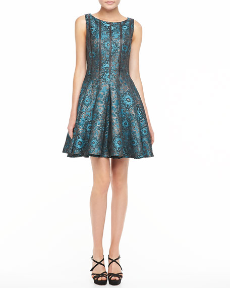 Brocade Fit & Flare Cocktail Dress