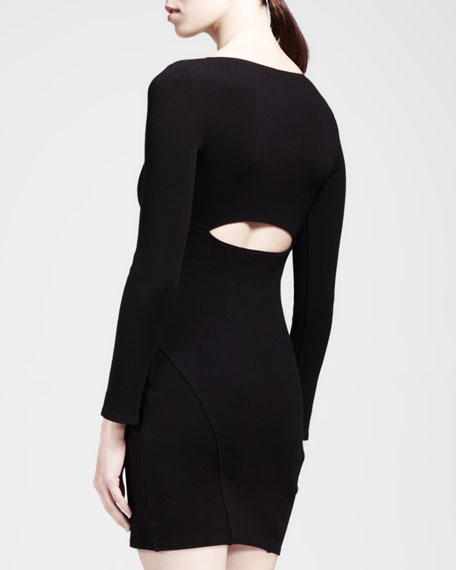 Gala Piped Cutout Knit Dress