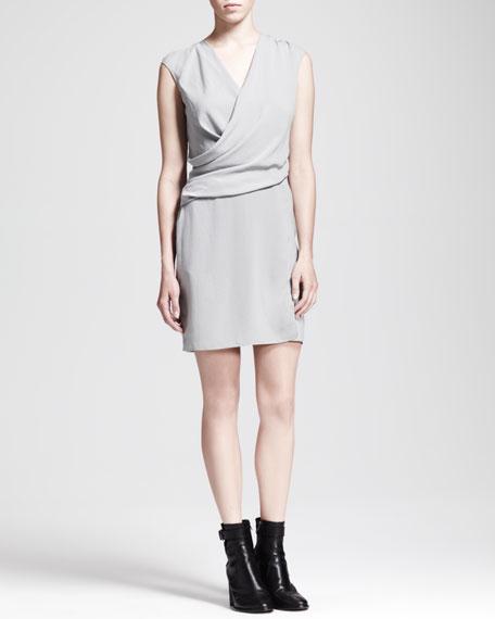 Nexa Cap-Sleeve Overlap Dress