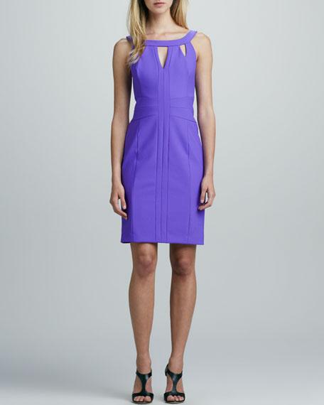 Sleeveless Ponte Dress with Cutouts