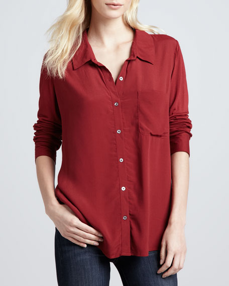 Anabella B Button-Front Blouse