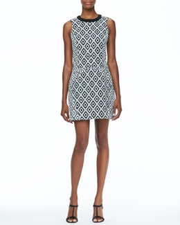 Ali Ro Sleeveless Diamond Print Dress