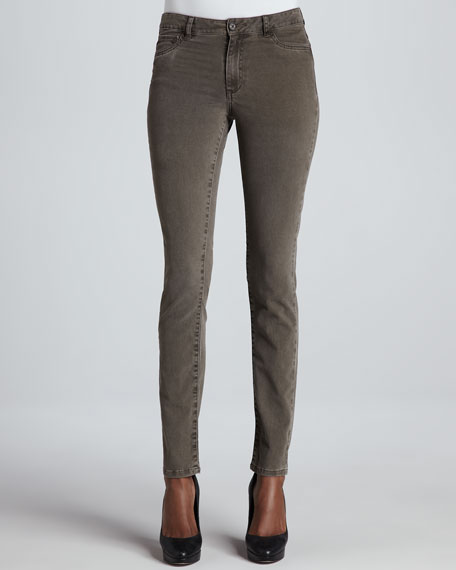 Seattle Sophia Twill Jeans, Olive Night