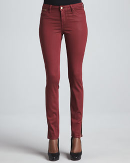 Christopher Blue Berlin Coated Skinny Jeans