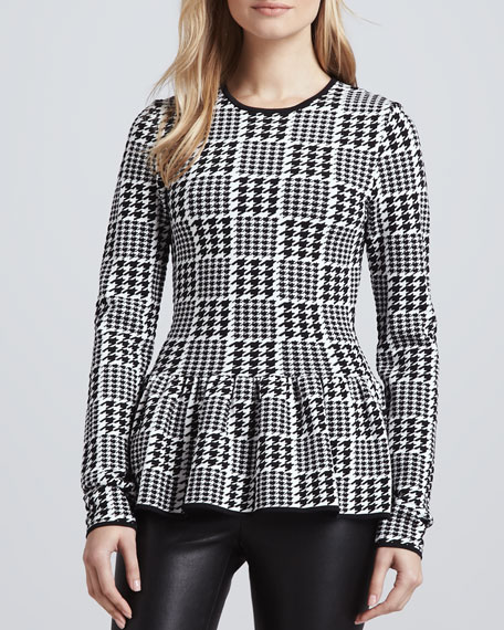 Natalie Plaid Peplum Top