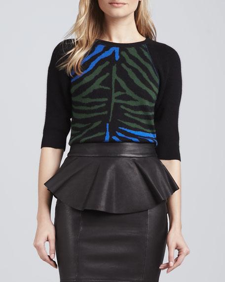 Madison Zebra-Print Sweater