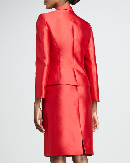 Ruffled Organza Skirt Suit