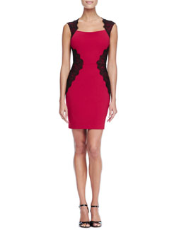 Erin by Erin Fetherston Lace-Inset Ponte Cocktail Dress