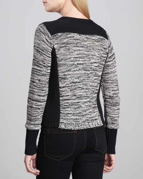 Knit Zip-Front Jacket