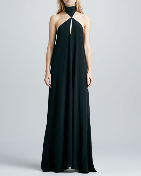 Jasara Charmeuse Halter Gown