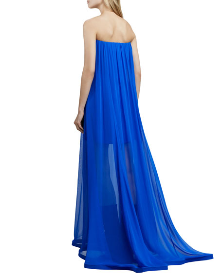 Musa Ruffled Strapless Gown