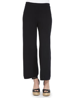 Joan Vass Knit Wide-Leg Pants, Petite