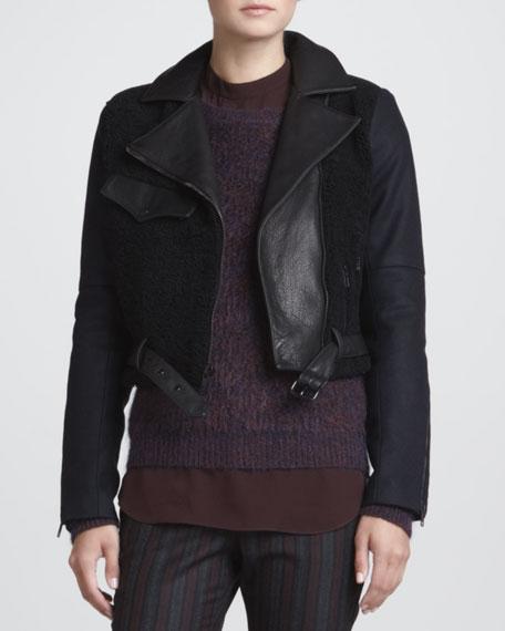 Felton Mixed-Fabric Jacket