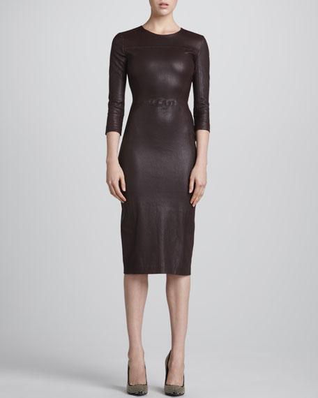 Bechet Formfitting Leather Dress