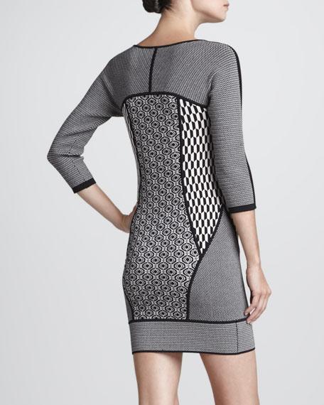 Jay Mixed-Print Knit Dress