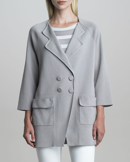 Snap-Front Cocoon Jacket
