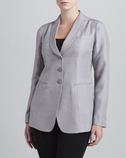 Armani Collezioni Three-Button Diamond Jacquard Jacket
