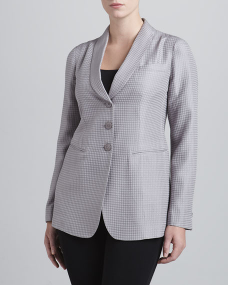 Three-Button Diamond Jacquard Jacket