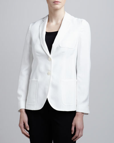 Armani Collezioni Pique Two-Button Jacket