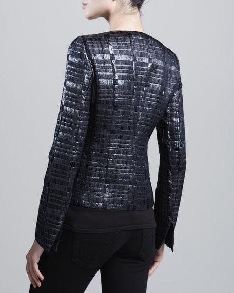 Three-Button Woven Jacket