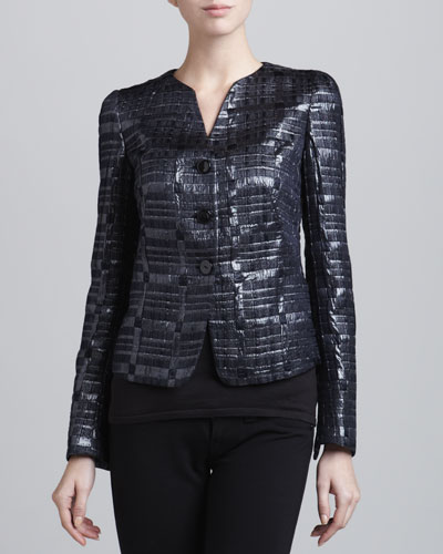 Armani Collezioni Three-Button Woven Jacket