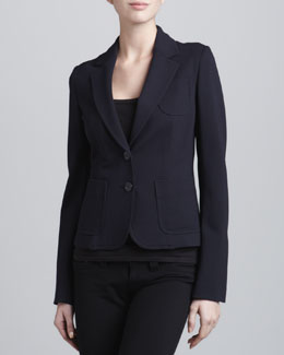 Armani Collezioni Double-Faced Jersey Jacket, Perse