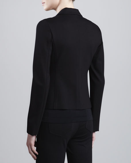 Double-Faced Jersey Jacket, Black