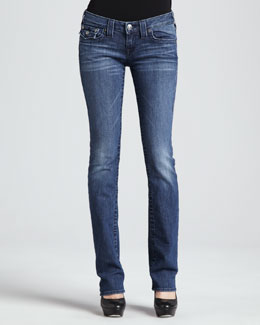 True Religion Billy Del Mar Flap-Pocket Straight-Leg Jeans