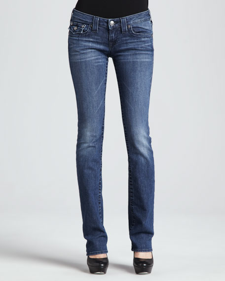 True Religion Billy Del Mar Flap-Pocket Straight-Leg Jeans