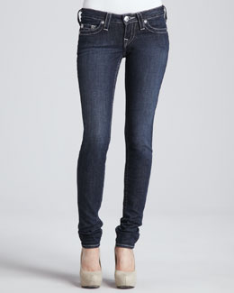 True Religion Stella Lonestar Low-Rise Skinny Jeans