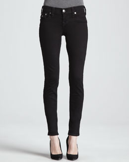 True Religion Misty Super Vixen Flap Pocket Low-Rise Super Skinny Jeans