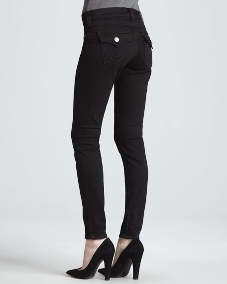 Misty Super Vixen Flap Pocket Low-Rise Super Skinny Jeans