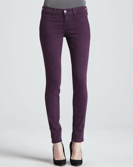 Halle Plum Stretch Skinny Jeans