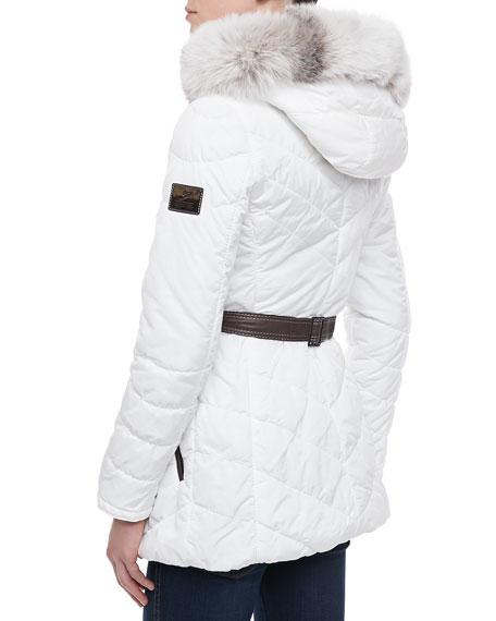 Apres Ski Coat with Fur Trim
