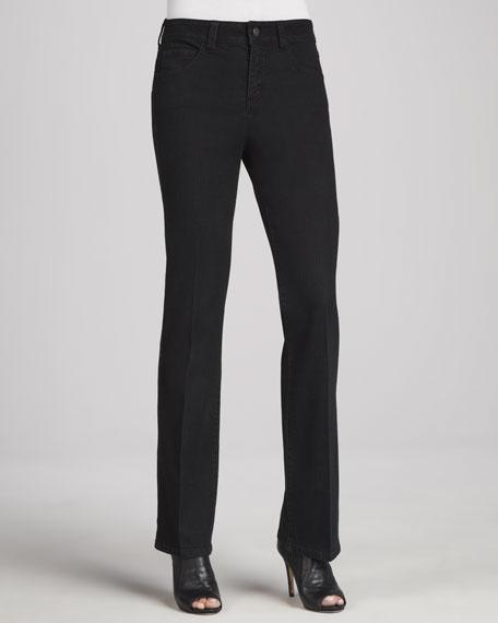 Jillian Modified Boot-Cut Tuxedo Jeans, Onyx