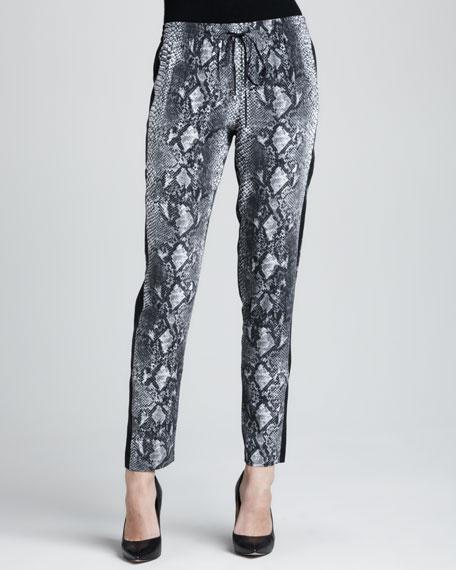 Python-Print Drawstring Pants