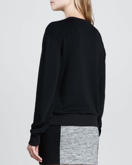 Stud-Embellished Sweatshirt