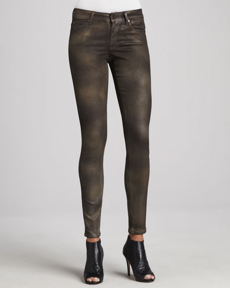 Peace Shimmer Skinny Jeans