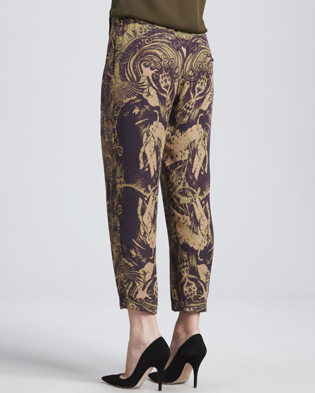Silk Trousers with Drawstring