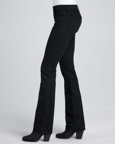 Lynden Curvy Boot-Cut Jeans, Black