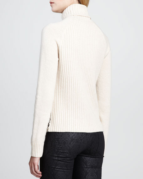 Ilsa Zigzag Shearling Sweater