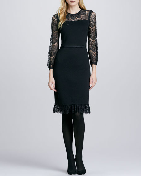 Tiana Lace-Top Dress