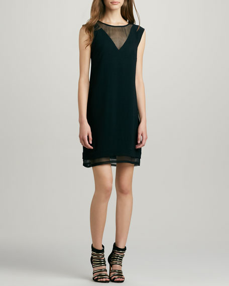 Stella Chiffon-Overlay Dress